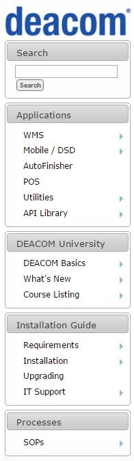 Deacom Help Navigation