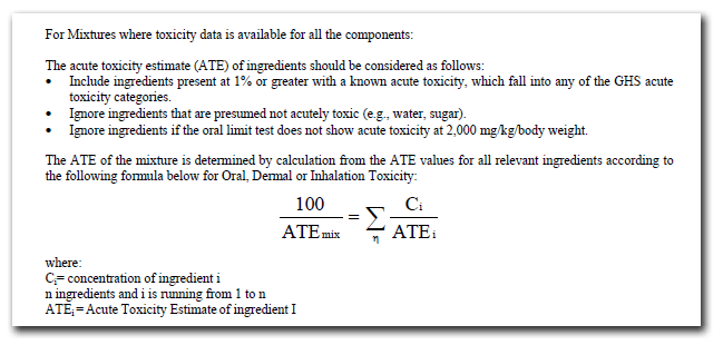 OSHA Calculation for ATE