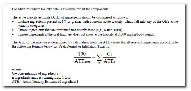 OSHA Calculation for ATE