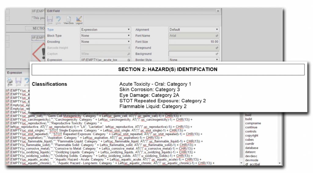 SDS Form Design in DEACOM ERP