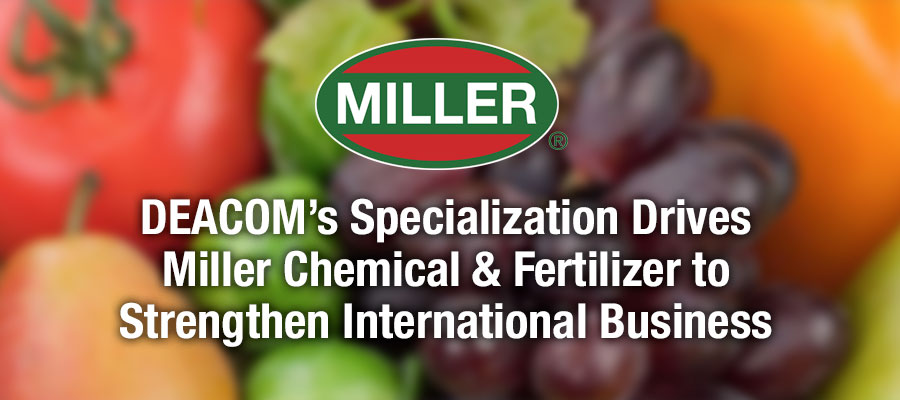 Miller Chemical chooses Deacom's ERP software to strengthen its international business.