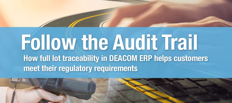 Lot Traceability in DEACOM ERP
