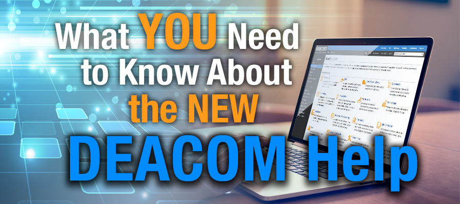 The New DEACOM Help