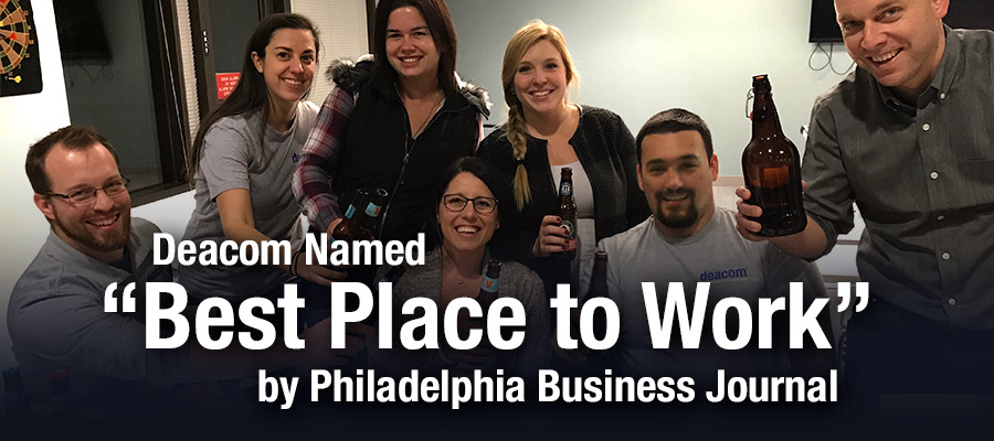 "Deacom Named ""Best Place to Work"" by Philadelphia Business Journal"