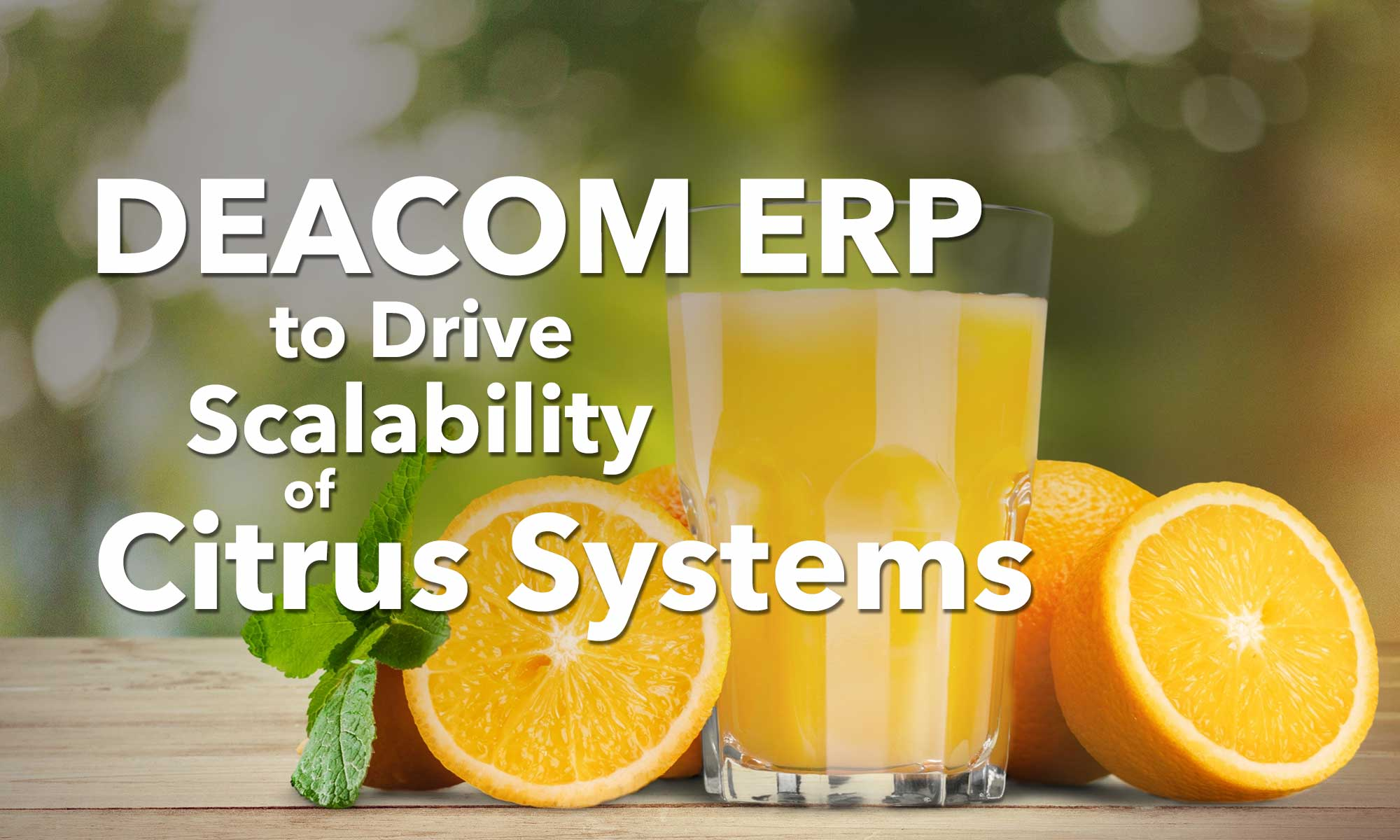 Citrus Systems begins implementation of DEACOM ERP