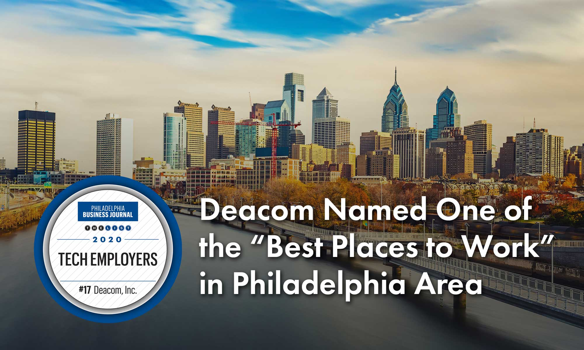 """Deacom Named One of the """"Best Places to Work"""" in Philadelphia Area"""