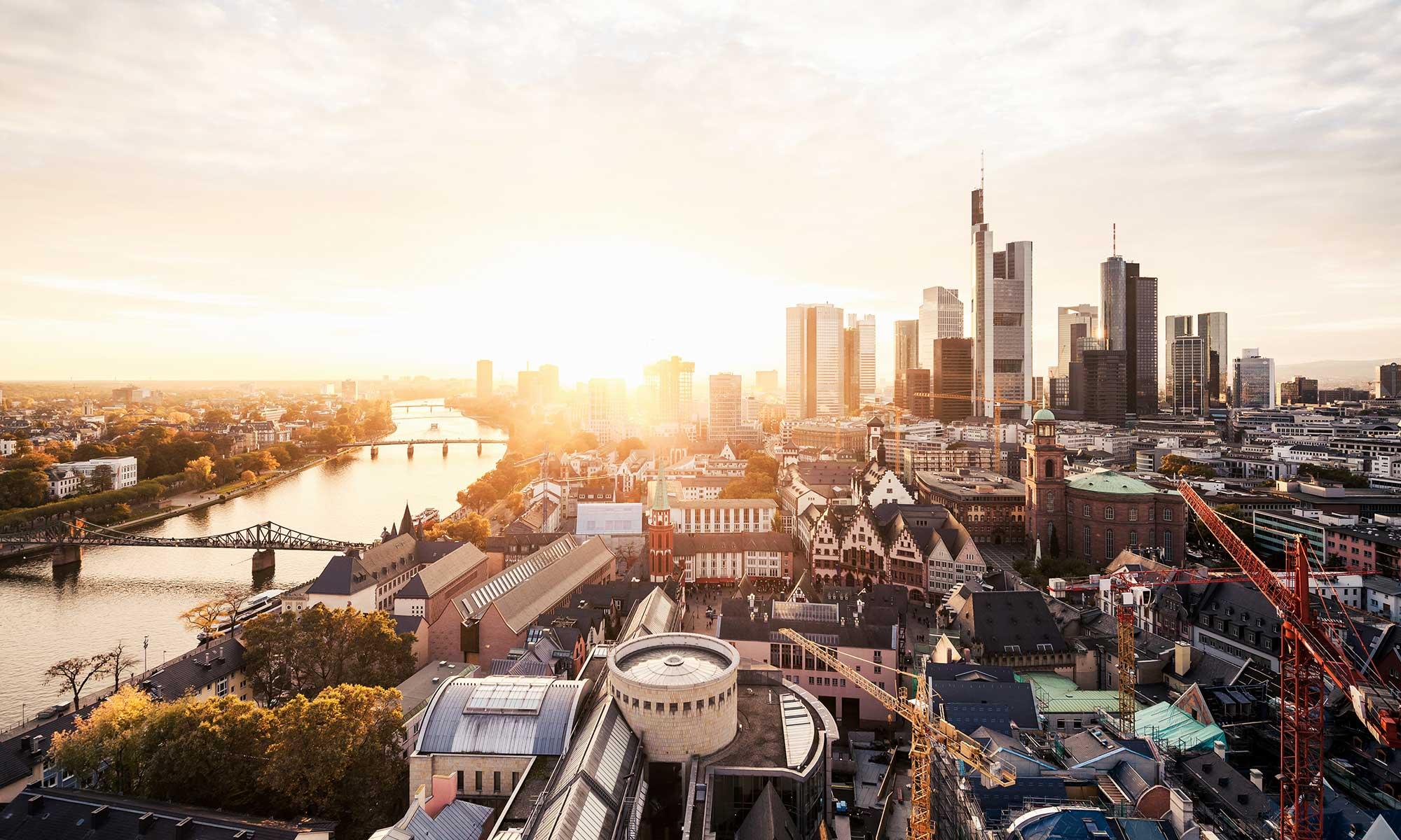 View of Frankfurt Germany